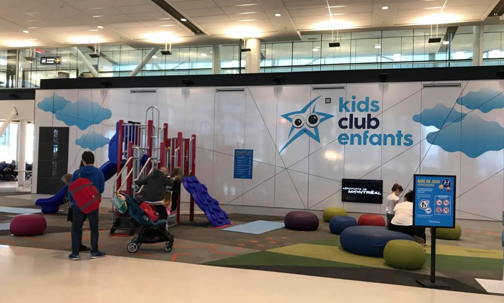 Jeux pour enfants aéroport Montréal-Trudeau