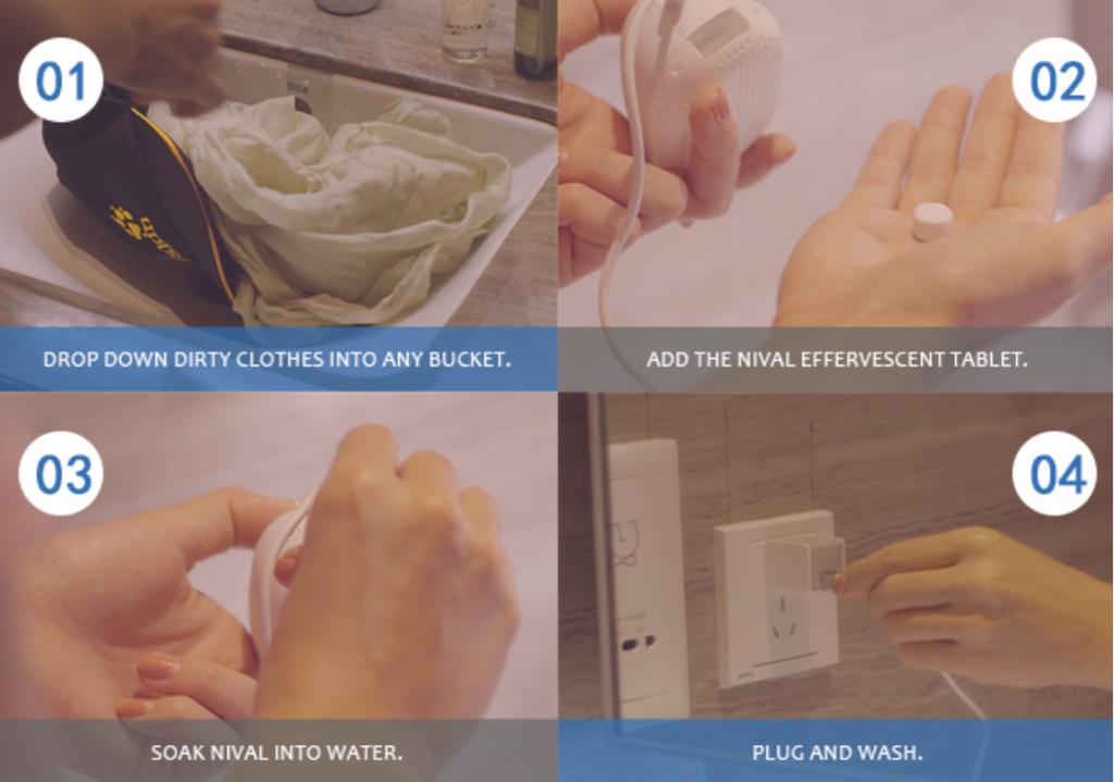 Le Nival : marchine à laver portable