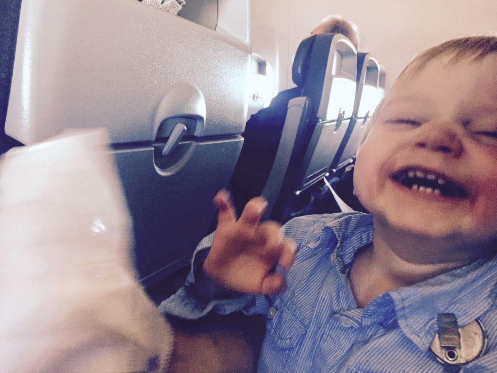 Avion avec enfant