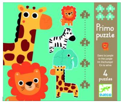 DJECO - Primo Puzzles Dans la jungle