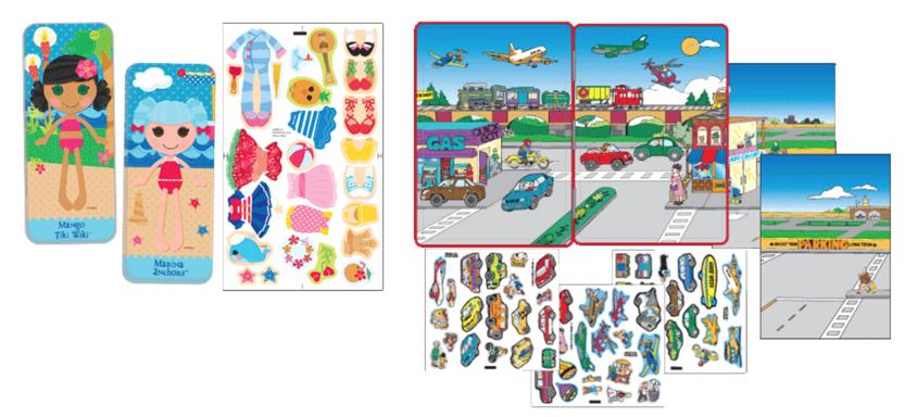 Magnetic Fun® Mini Tin: Lalaloopsy™ Set 5 et le Magnetic Fun® Tin: Cars, Planes and Trains de Lee Publications
