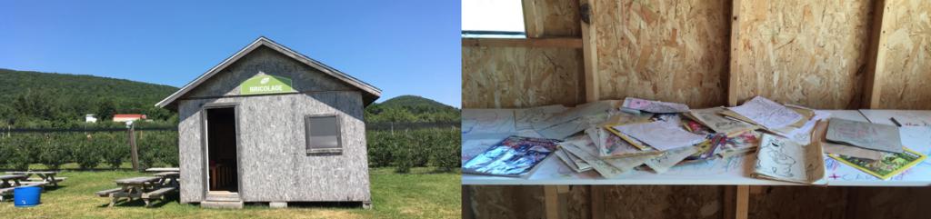 Cabane à bricolages à la bleuetiere Domaine du Flanc
