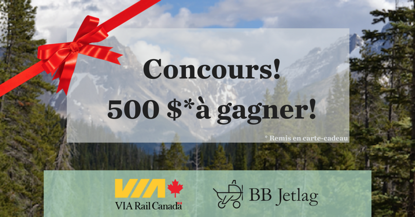 Concours Via Rail avec BB Jetlag