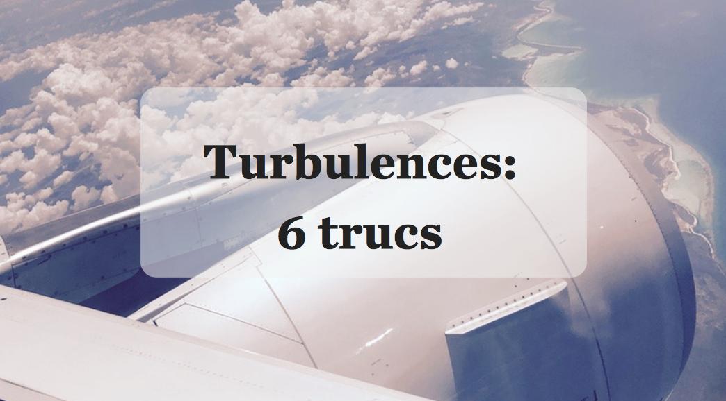 Turbulences en avion