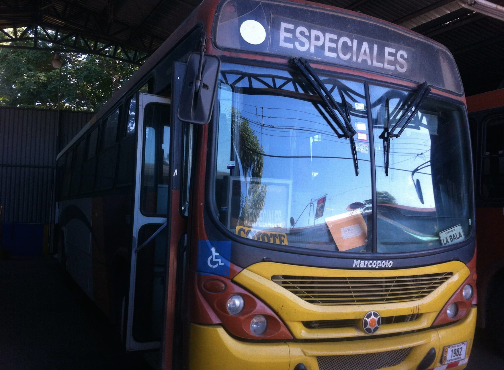 Autobus au Costa Rica
