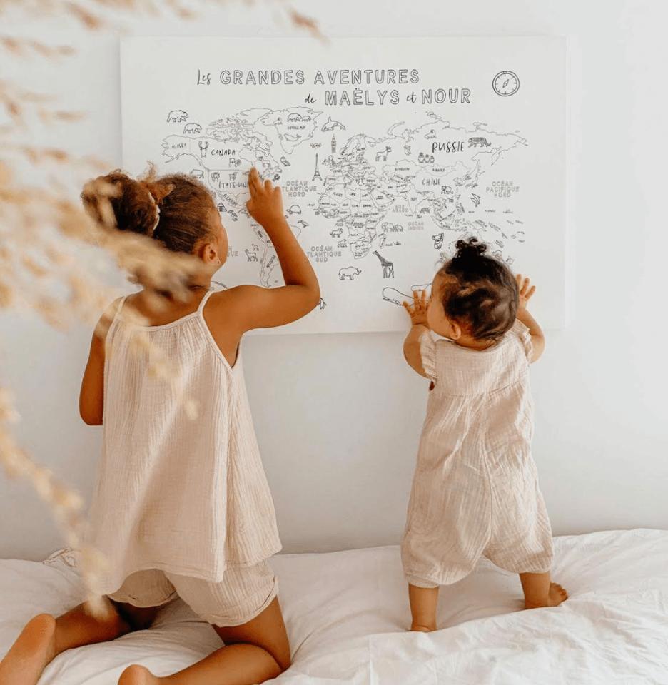 Cartes du monde pour enfants (map monde) Easy Travel Planet