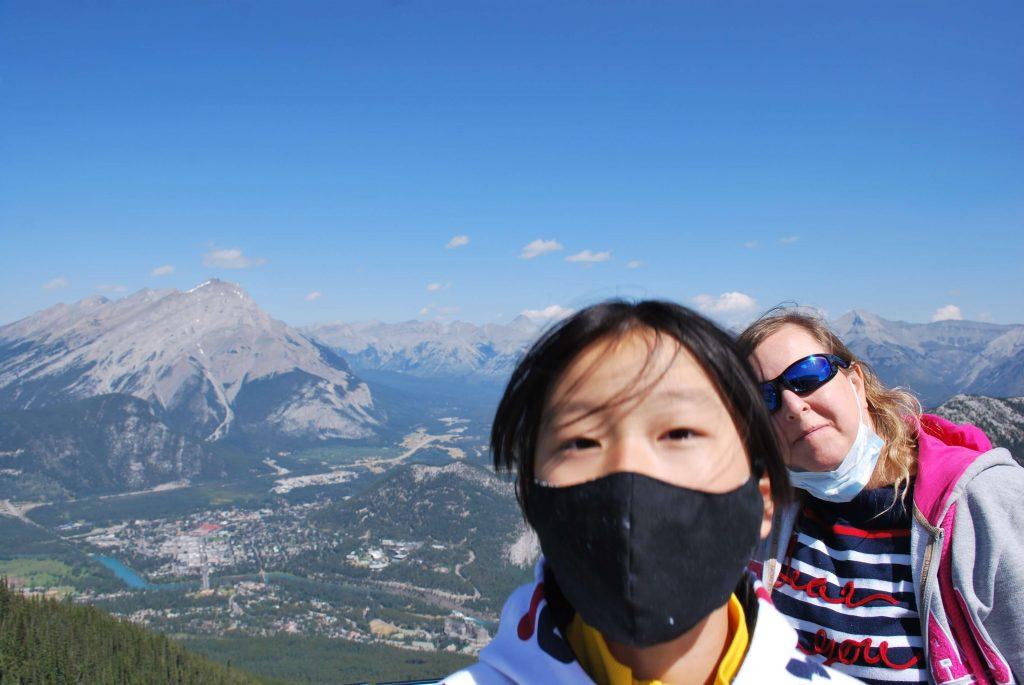 Au sommet du remonte-pente de Banff