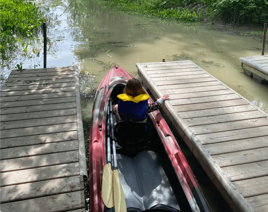 Tentes oTENTik en famille Parcs Canada prêt-à-camper Canal Saint-Ours kayak avec enfants Maison des marais Sorel