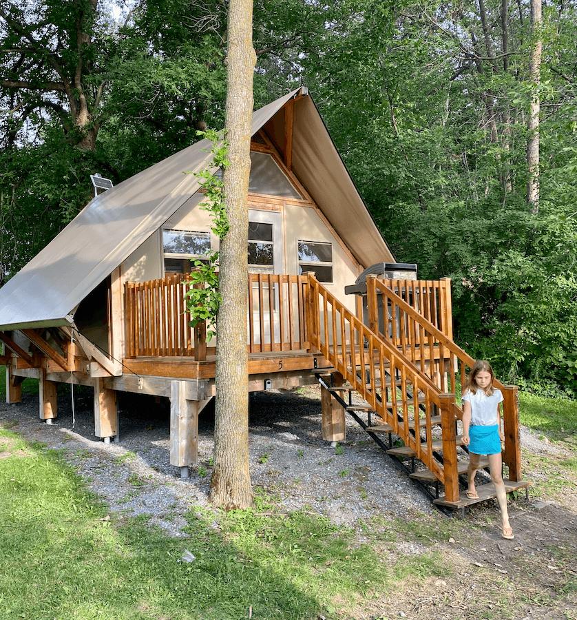 Tentes oTENTik en famille Parcs Canada prêt-à-camper